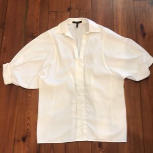 BCBGMAXAZRIA white tunic blouse